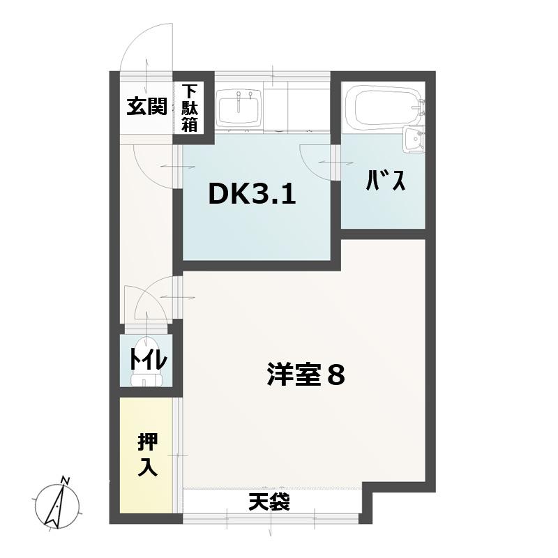 1DK(DK3.1・洋8)