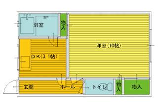 1DK(DK3.1・洋10)